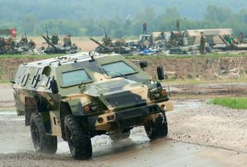 KAMAZ-43269 light APC on the test track
