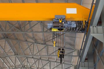 Close up of an overhead crane