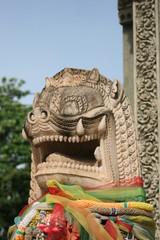 Lion statue, Cambodia.