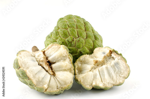 Cherimoya fruit or custard apple (Annona cherimola),