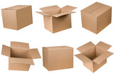 Opened and closed cardboard box - 24528105