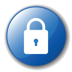 The dark blue button for a site web. A vector illustration, it i