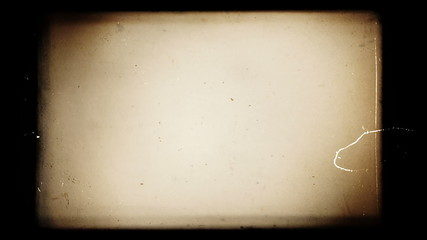 Vintage old cinematograph empty movie. Colored template source.