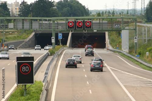 Autobahntunnel bei München