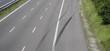 Leinwandbild Motiv Bremsspur auf Autobahn