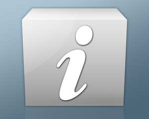 "Box-shaped Icon ""Information Symbol"""