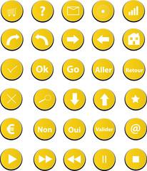 pictos web jaune
