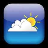 WEATHER Web Button (forecast news feed meteorological service) poster
