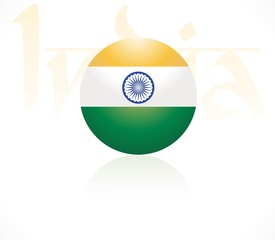 indian flags globe