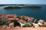 View over the rooftops of Rovinj, Croatia poster