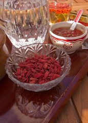 Breakfast with goji berries