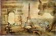 amazing Paris - artistic retro collage