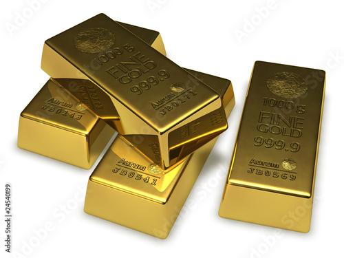 vier goldbarren mit individueller seriennummer von lizenzfreies foto 24540199. Black Bedroom Furniture Sets. Home Design Ideas
