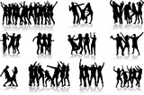Fototapety Dancing silhouettes - large collection