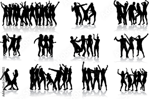 Dancing silhouettes - large collection - 24541552