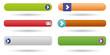 Detaily fotografie soubor šesti web tlačítek s označením hrát