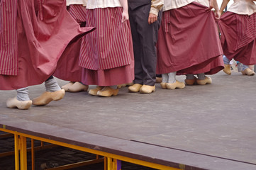 dutch folk dancers in festival