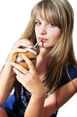 girl drinking mate