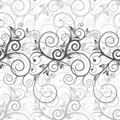 Floral seamless background. Vector layered.