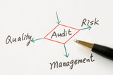 Several possible outcomes of performing an audit poster