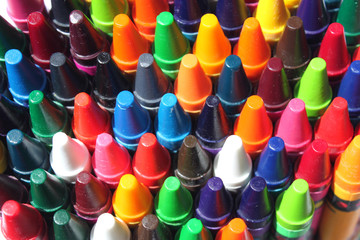 multi colored crayons