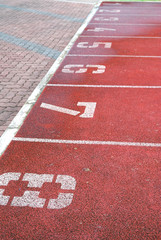 Numbered running track