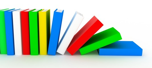 Row books (various colour)