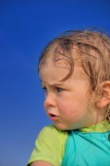 Enfant mécontent