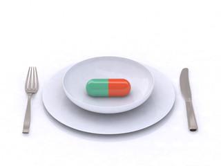 piatto con pillola