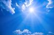 Leinwandbild Motiv 青空と太陽