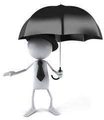 Gentleman et pluie