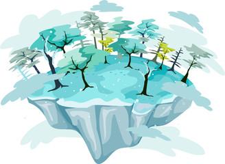 Winter Floating Island