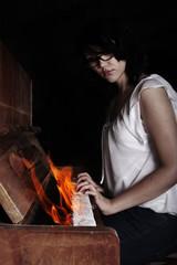 brennendes klavier