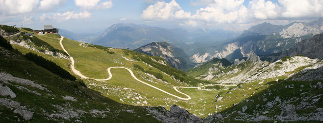 Geröllfeld unterhalb der Alpspitze im Wetterstein