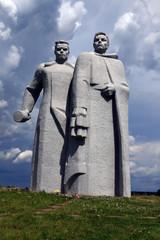 Дубосеково.Памятник героям-панфиловцам.