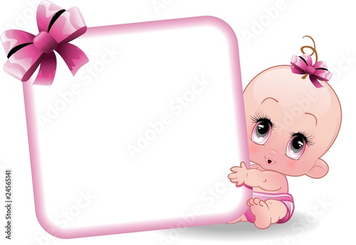 Neonato Femmina-Baby Girl-2-Vector