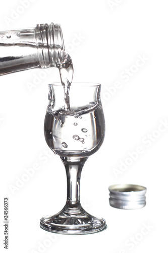 glass of vodka