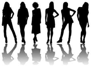 6 silhouettes of women /8