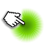 green target, white background, cursor, success, precision poster