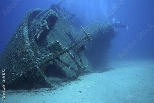 Leinwanddruck Bild relitto nave affondata