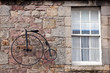 Facade with cycle in Edinburgh, Scotland
