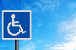 Photo realistic 'disabled' sign, with space for your text overla