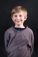 Cute young eight year old boy