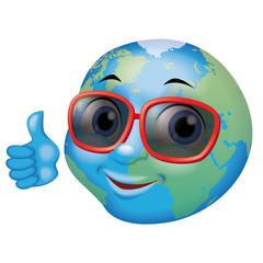 lunette de soleil de la terre