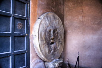 bocca della verita - mouth of truth, Rome