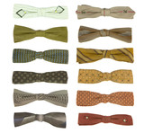 12 vintage bow-ties from the 1950's