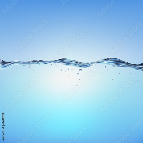 Blue Vector Water Wave - 24581199