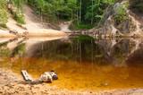 Fototapeta Kolorowe jeziorko w Rudawach Janowickich