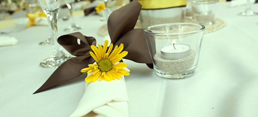 Yellow Daisey Table Setting