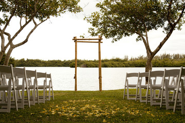 Tranquil wedding setting